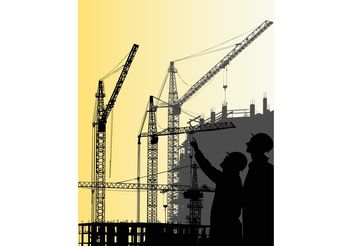 Construction Crane Graphics - Free vector #158553