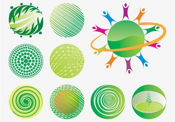 Eco World Icons - vector gratuit #158633