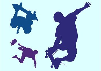 Skaters - Free vector #158643