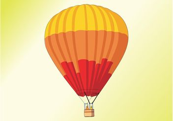 Hot Air Balloon - vector gratuit #158653
