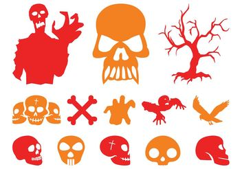 Halloween Graphics Set - vector gratuit #158663