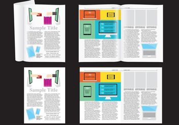 E-shop Magazine Layout Vector - vector #158733 gratis