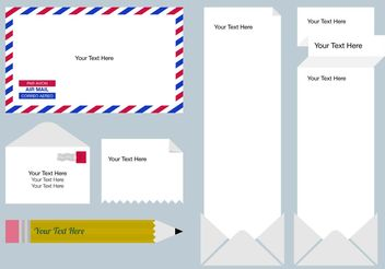 Postage Text Box Templates - vector gratuit #158753
