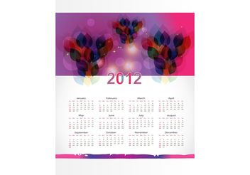 Calendar Layout Template - vector gratuit #158773