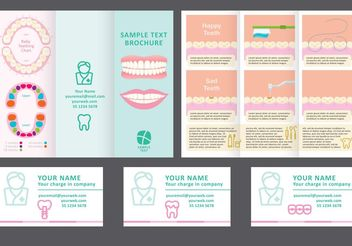 Dentist Fold Brochure Vector - бесплатный vector #158793