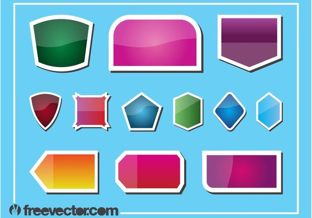 Stickers Vector Graphics - vector gratuit #158833