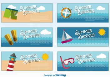 Summer Banners Templates - Free vector #158843