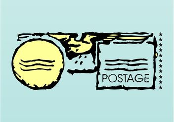Postage Layout - vector gratuit #158853
