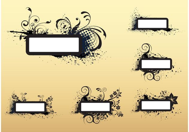 Grunge Banners - Free vector #158913