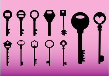 Keys Icons - Free vector #159053