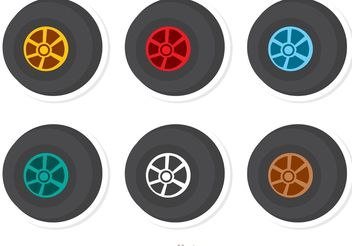 Wheels Racing Vector Pack - vector gratuit #159143