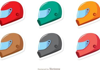 Racing Helmets Vector Pack - Kostenloses vector #159153