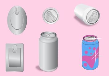 Soda Can Template Vectors - vector gratuit #159183