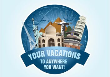 Holiday Travel Graphics - vector gratuit #159223