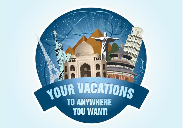 Holiday Travel Graphics - Free vector #159223
