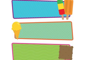 Free Vector Ice Cream and Popsicle Banners - бесплатный vector #159413