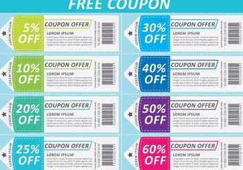 Scissors Coupon Vector Sheet - Free vector #159443