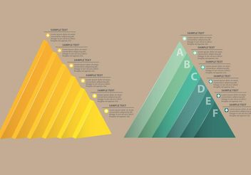 Triangles Charts - vector gratuit #159453