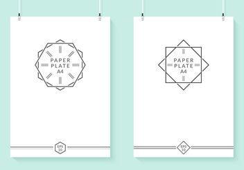 Free Hanging Vector Paper Plates - vector gratuit #159463