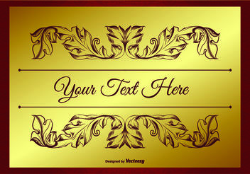 Elegant Gold and Red Background Illustration - бесплатный vector #159483