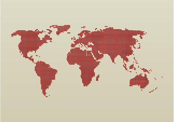 Dotted World Map - vector gratuit #159543