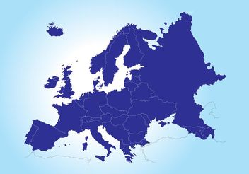 Map of Europe - Free vector #159613