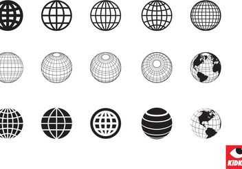 A Collection of Clean Style Globe Vectors - vector gratuit #159633