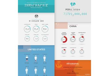 Infographic Vector Template Elements - vector #159653 gratis