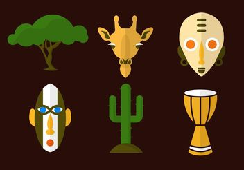Africa Vector Icons - Kostenloses vector #159713