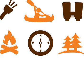 Collection Of Adventure Icons vector - Free vector #159753