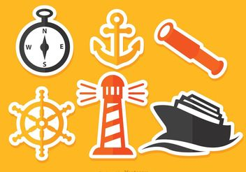 Vector Nautical Flat Icons - Free vector #159763