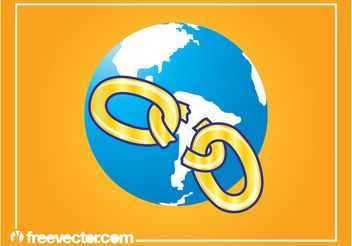 Global Network Design - vector #159863 gratis