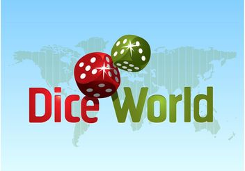 Dice World Logo - бесплатный vector #159903