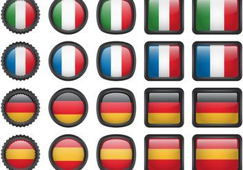 European Flag Icons - vector #159923 gratis