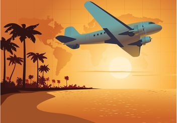 Travel Background - vector gratuit #159943