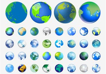 World Vector Icons - vector gratuit #159963