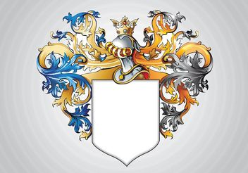 Medieval Shield - vector gratuit #159993