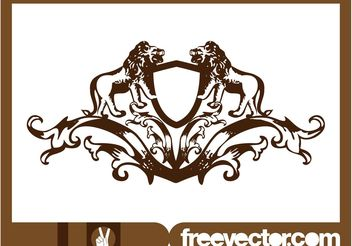 Crest With Lions - vector gratuit #160003
