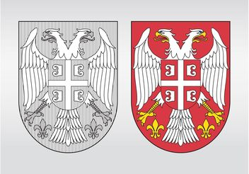 Serbia Coat Of Arms - vector gratuit #160013