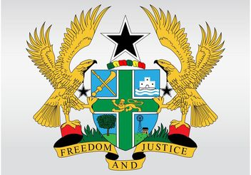 Ghana Coat Of Arms - Kostenloses vector #160043