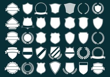 Vector Crest and Shields - vector gratuit #160053