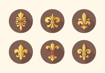 Free Fleur De Lis Vector Icon Pack - Free vector #160063