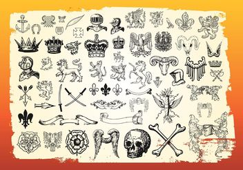 Antique Heraldry - Free vector #160083