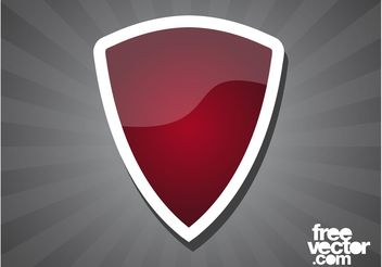 Red Shield Sticker - Free vector #160093