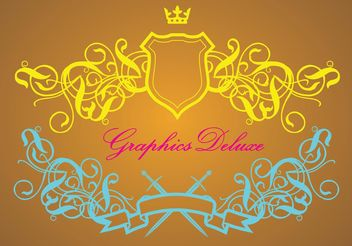Luxurious Heraldry Vector Graphics - Free vector #160173