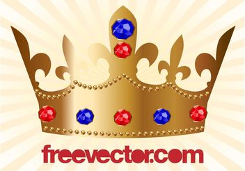 Golden Crown Vector - Kostenloses vector #160213
