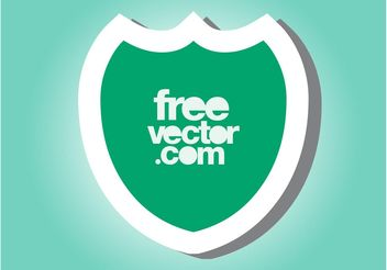 Shield Sticker - бесплатный vector #160223
