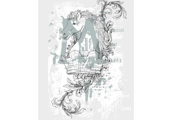 Crown Horse Shirt Design - vector #160233 gratis