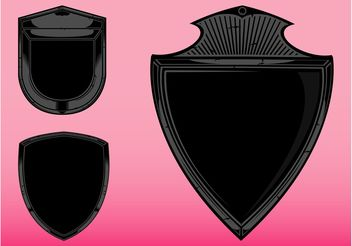 Blank Shields Graphics - Free vector #160243