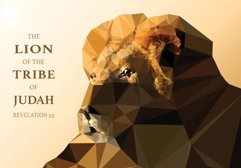 Free Vector Polygonal Lion Of Judah Wallpaper - vector #160373 gratis